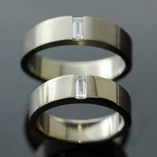 Unique bespoke Diamond wedding bands