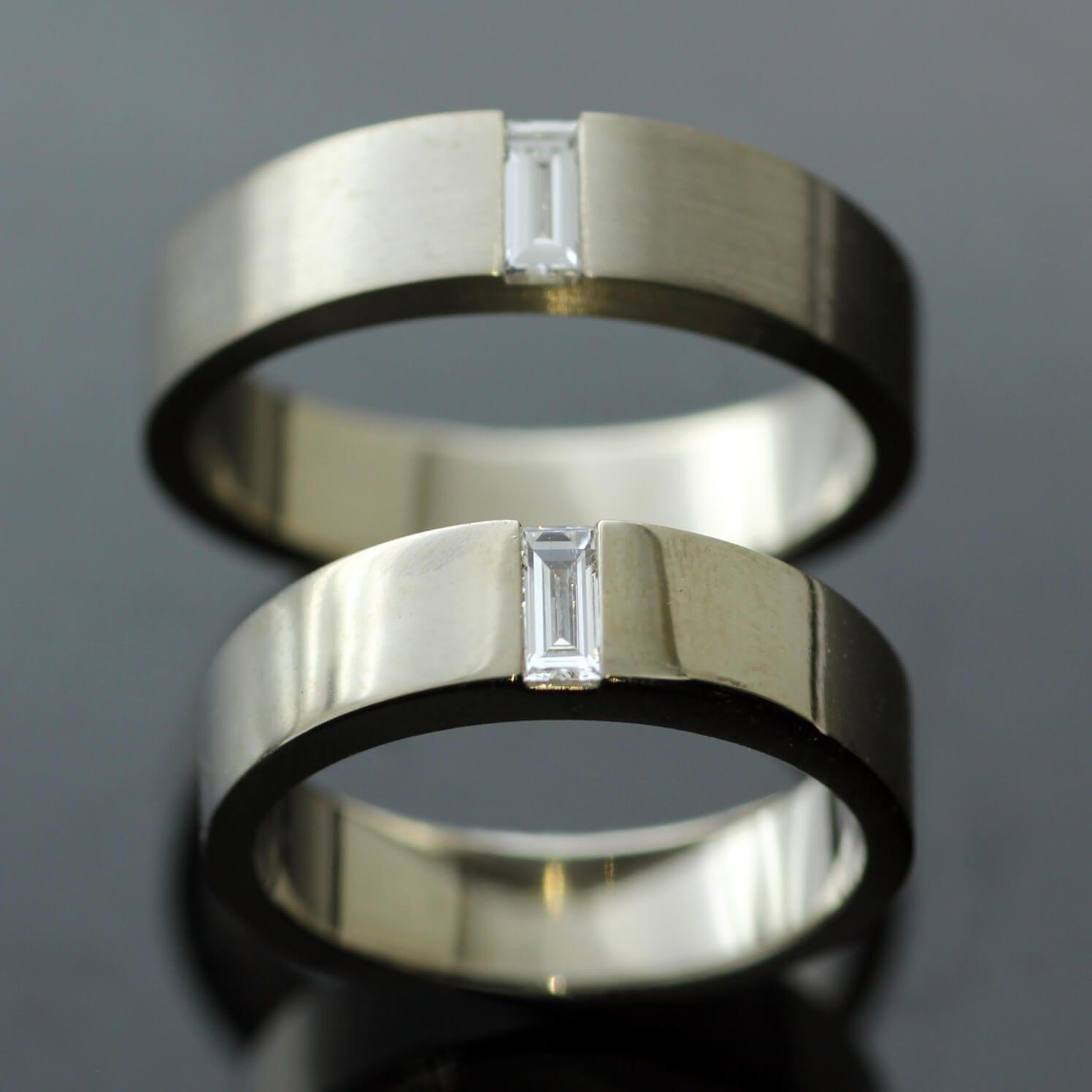 Unique bespoke Diamond wedding bands