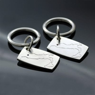 Unique handcrafted gifts bespoke silver keyrings