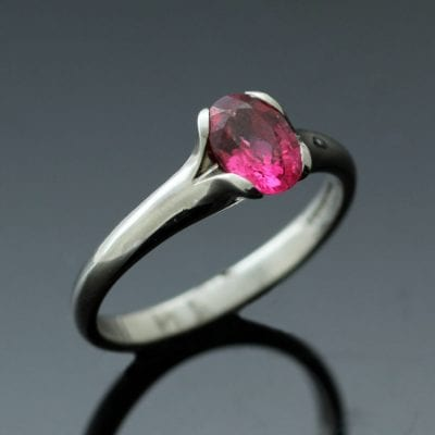 Unique handmade engagement ring from the Flower collection by Julian Stephens