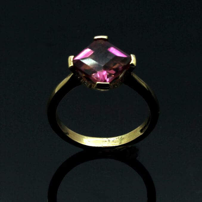 The Gatsby engagement ring handcrafted by Julian Stephens Goldsmith