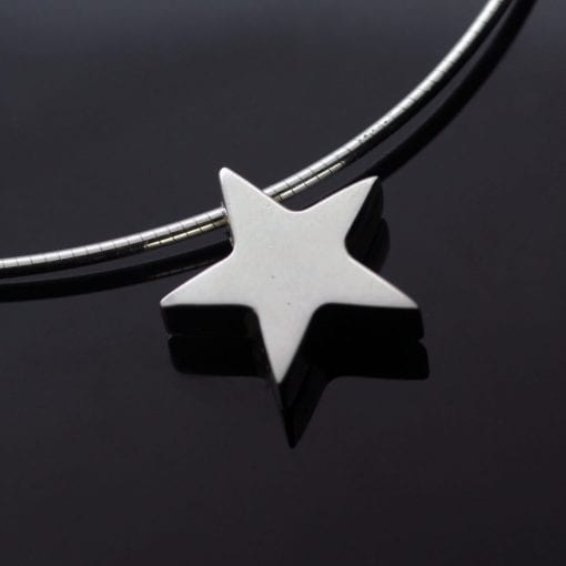 Sterling Silver handmade star charm pendant silver snake chain