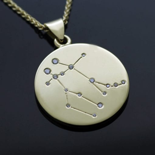 Handmade bespoke personalised Yellow Gold pendant by Julian Stephens
