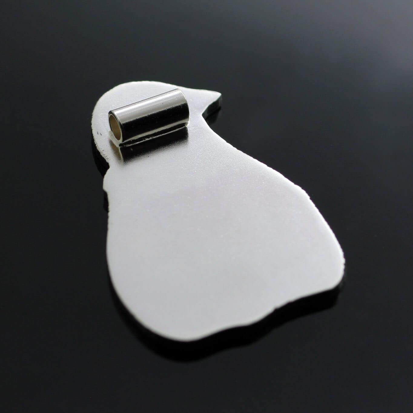 Unique Silver engraved penguin pendant