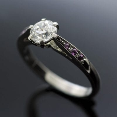 Unique bespoke engagement ring by Julian Stephens Goldsmith