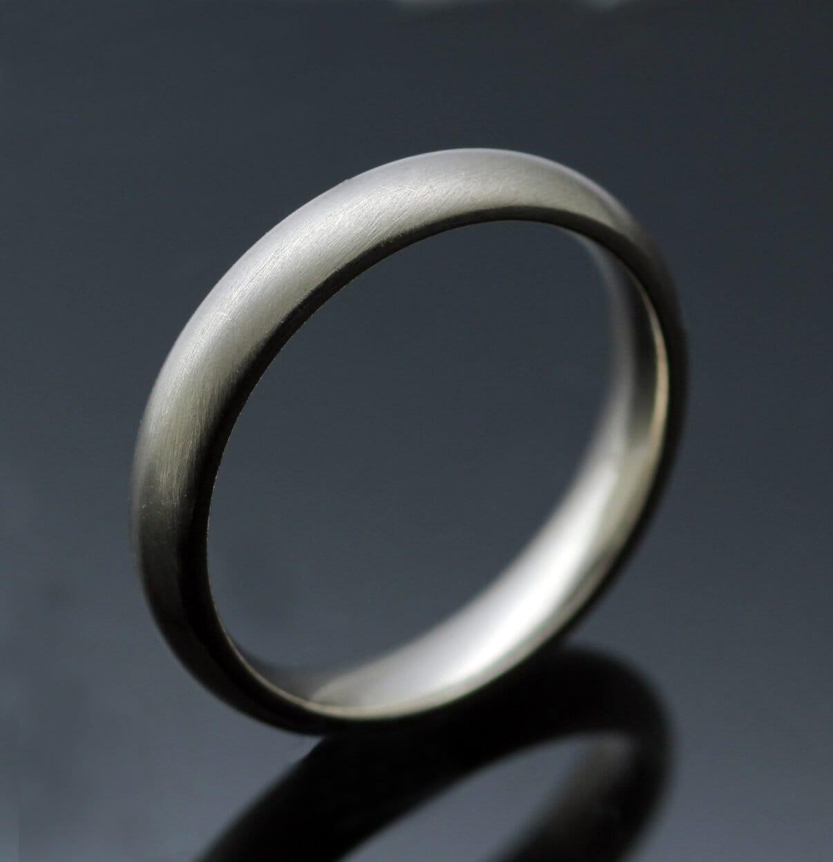 Hand finished Court wedding band ladies 2mm ring White Gold Yellow Gold Platinum Palladium