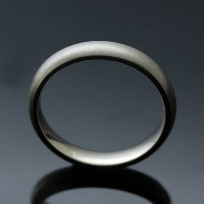 Handmade solid White Gold Yellow Gold Platinum Palladium Court 4mm wedding bands