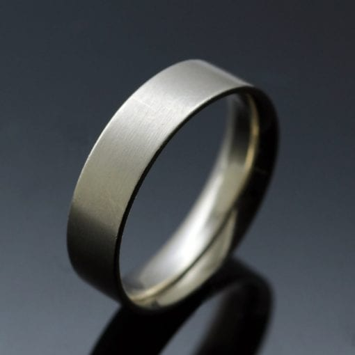 Modern mens easy fit wedding band handmade