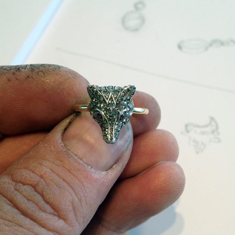Bespoke wedding rings designed and handmade by Julian stephens Goldsmith