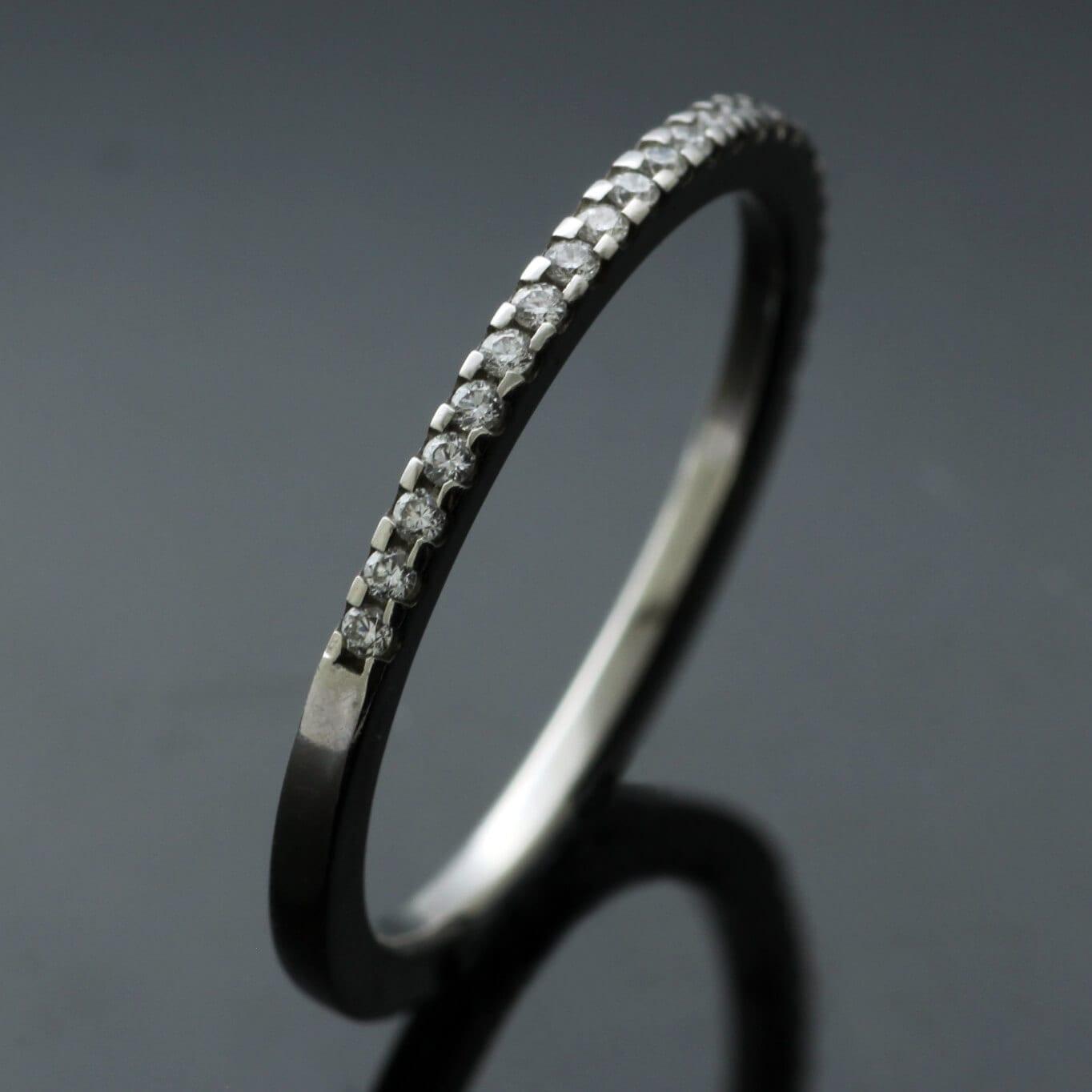 Handcrafted Diamond Platinum modern Eternity band