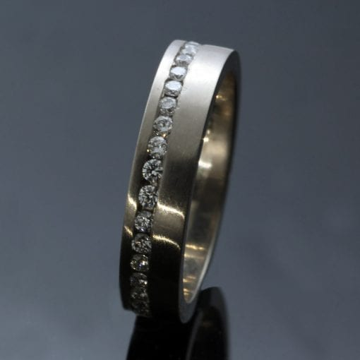 Full ET Eternity band 1.5mm Diamonds 18ct White Gold handmade