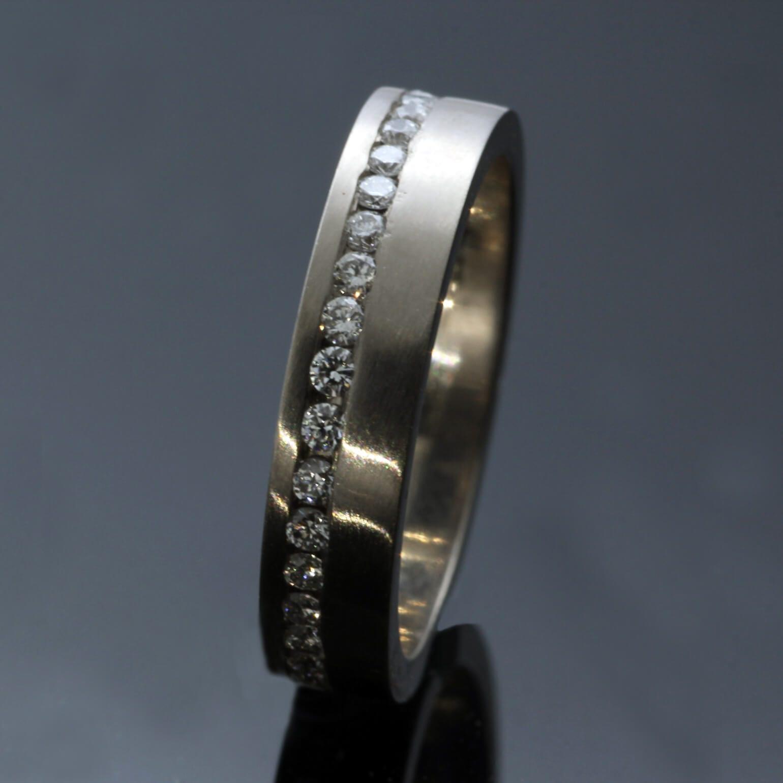 Full ET Eternity band 1.5mm Diamonds 18ct White Gold handmade