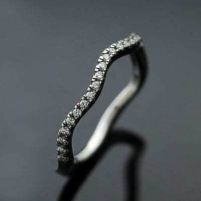 Unique and modern Diamond stacking Eternity band by Julian Stephens