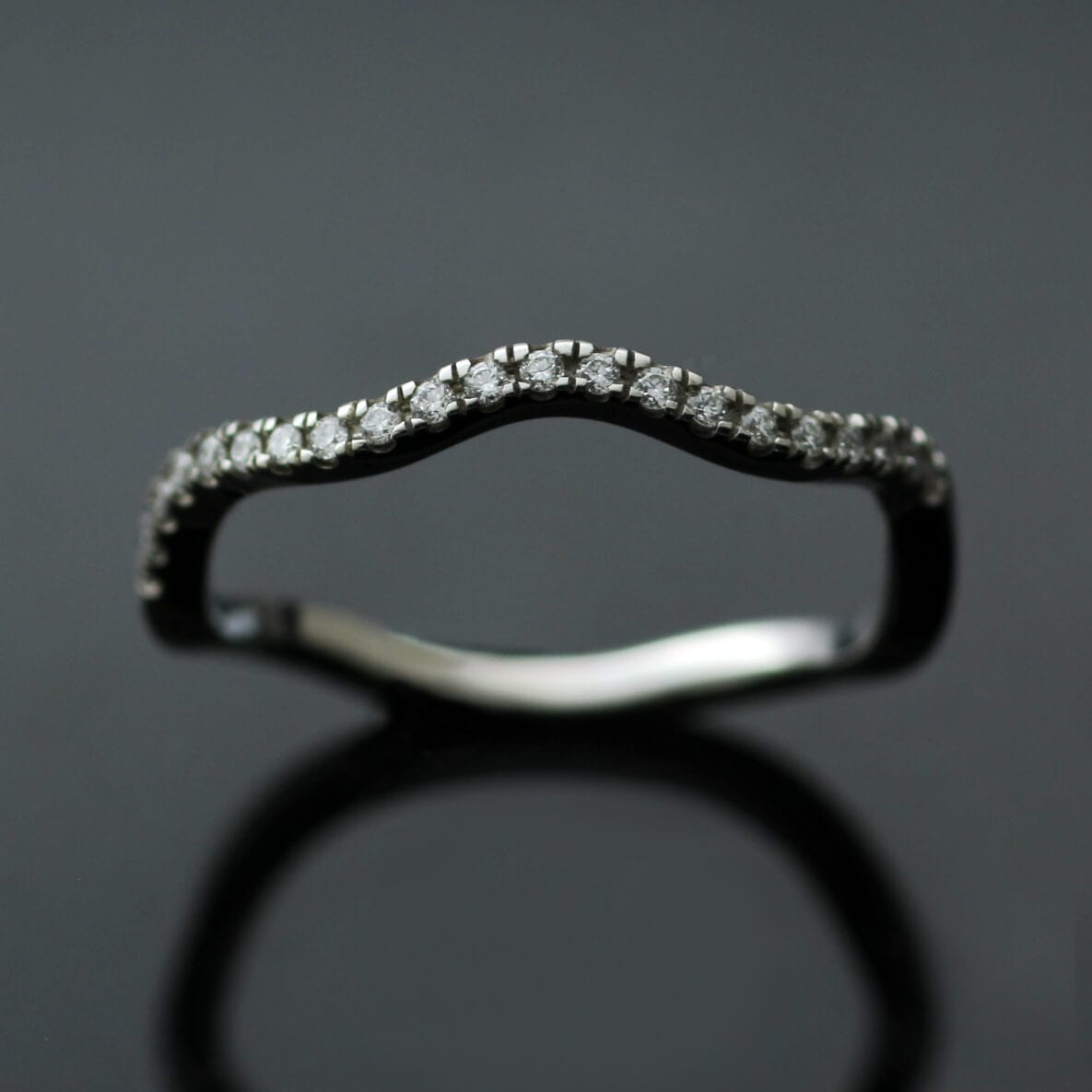 The Ruscello Wave Diamond Eternity band by Julian Stephens