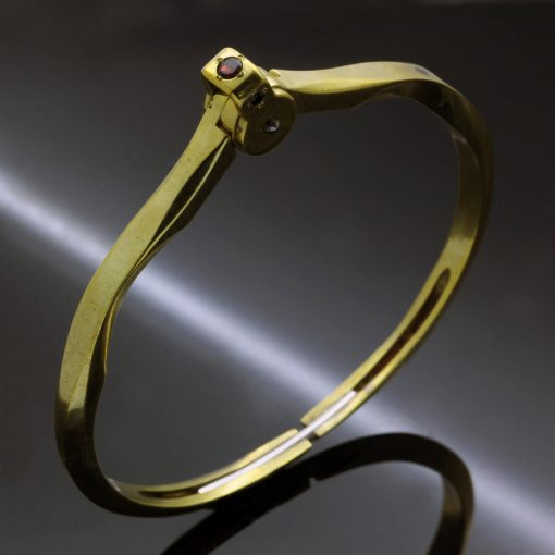 Upcycled antique brass statement bracelet handmade