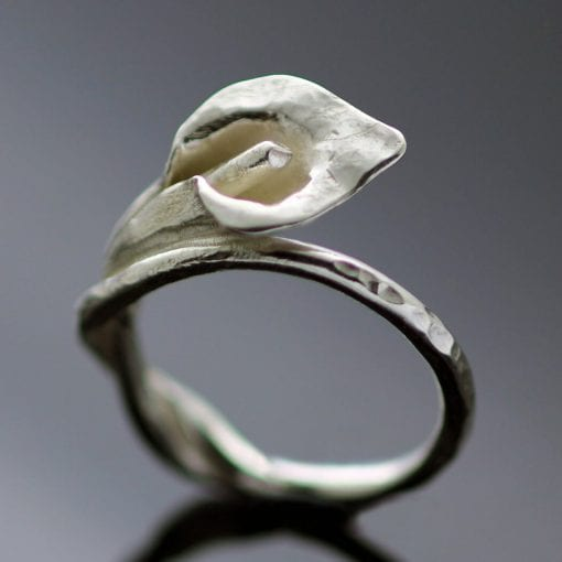 Handmade Sterling Silver Floral ring