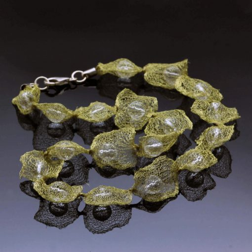 Handmade wire mesh gemstone jewellery