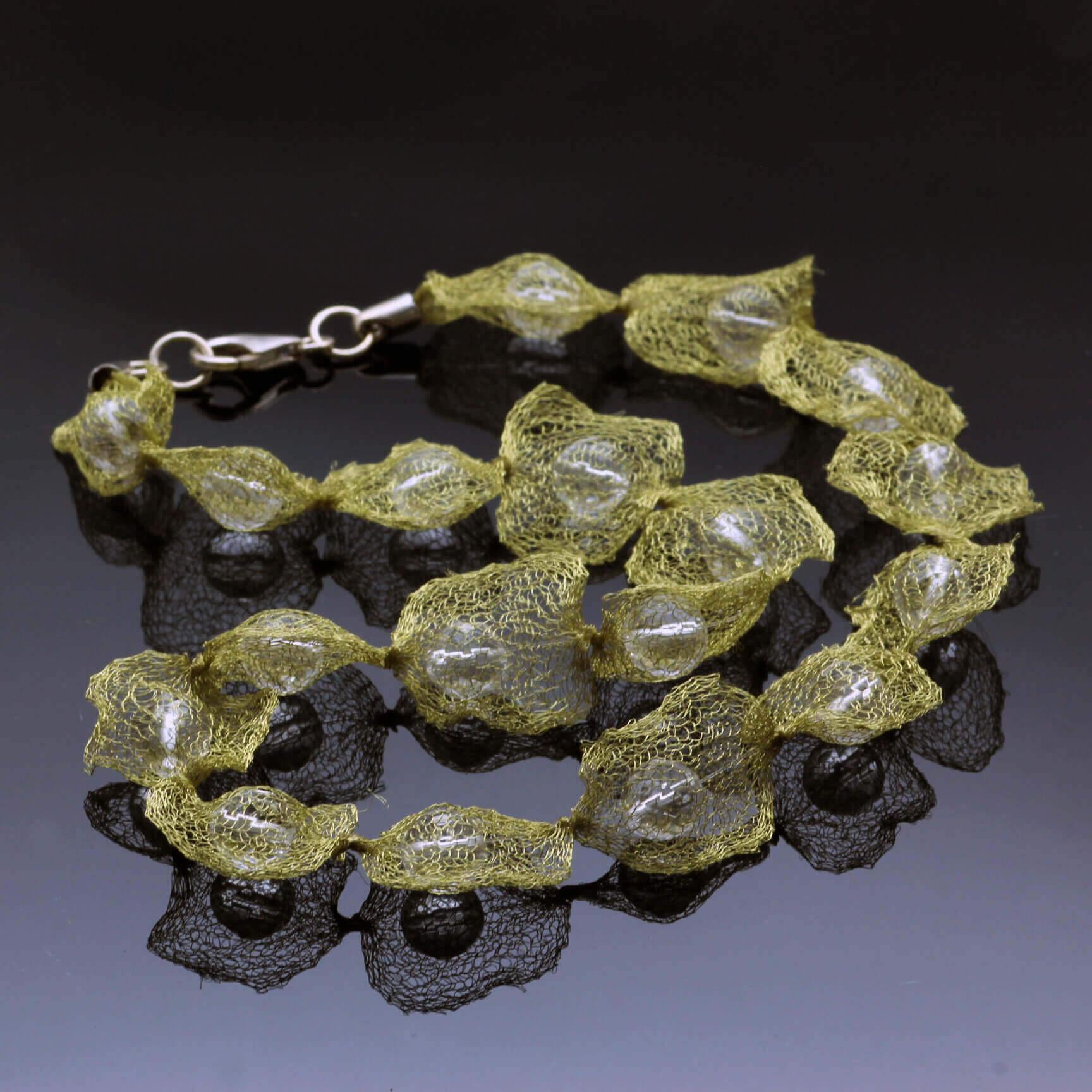 Handmade wire mesh gemstone jewellery