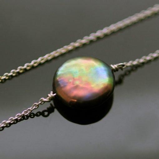 Modern Sterling Silver Peacock Pearl bracelet