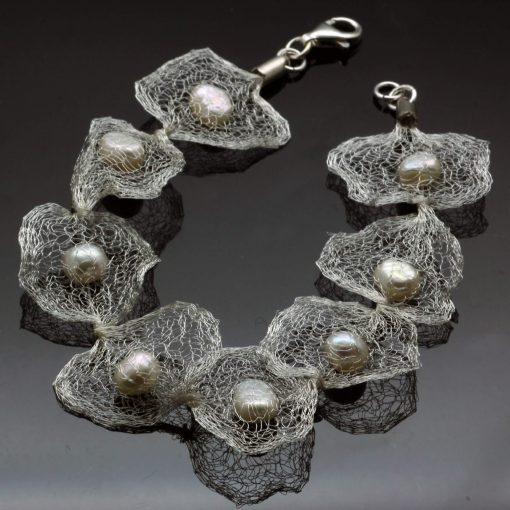 Unique statement Pearl bracelet handmade