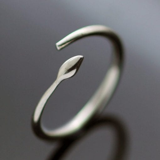 Handmade silver modern minimal ring handcrafted