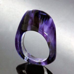 Handmade perspex statement ring contemporary colourful