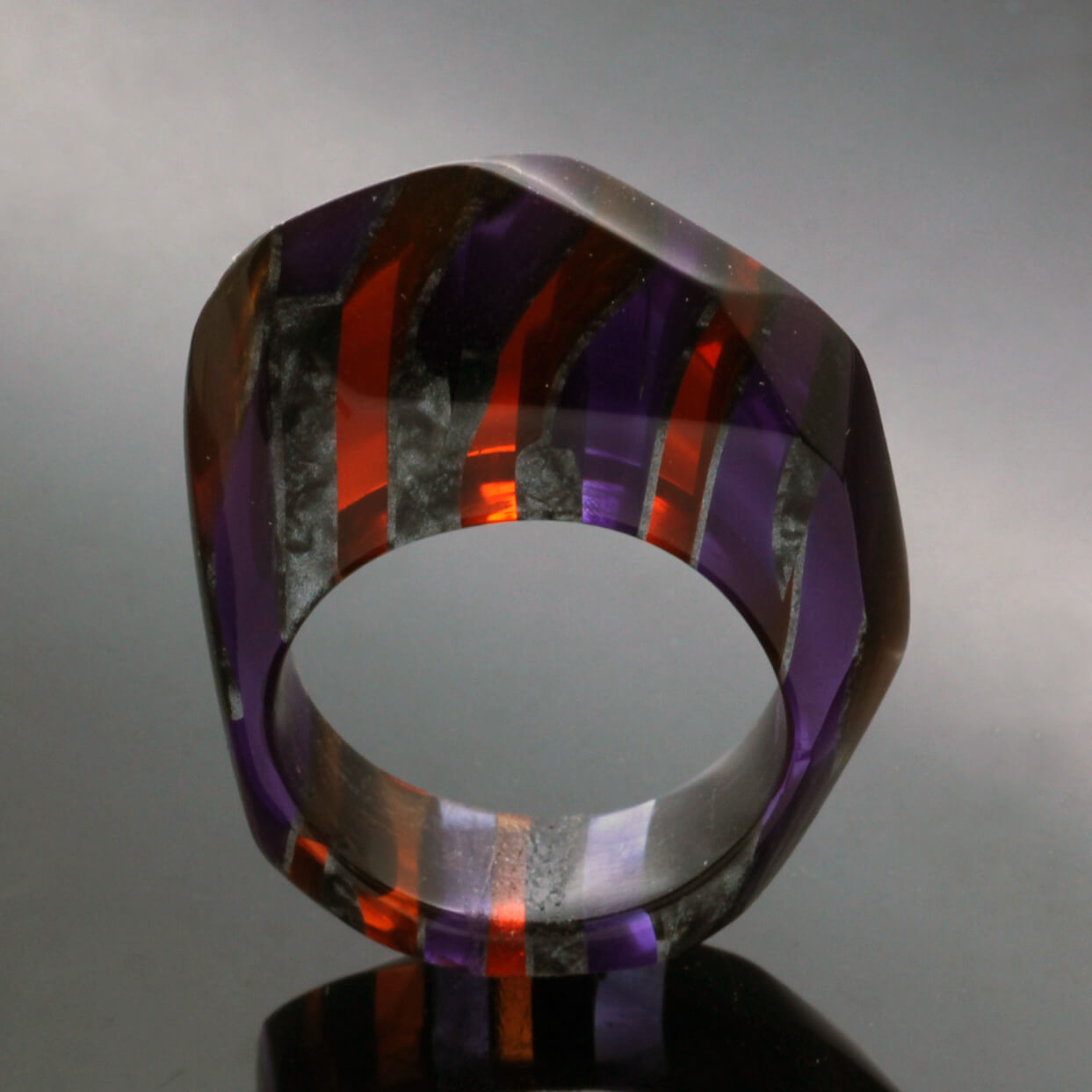 Statement perspex rings handmade