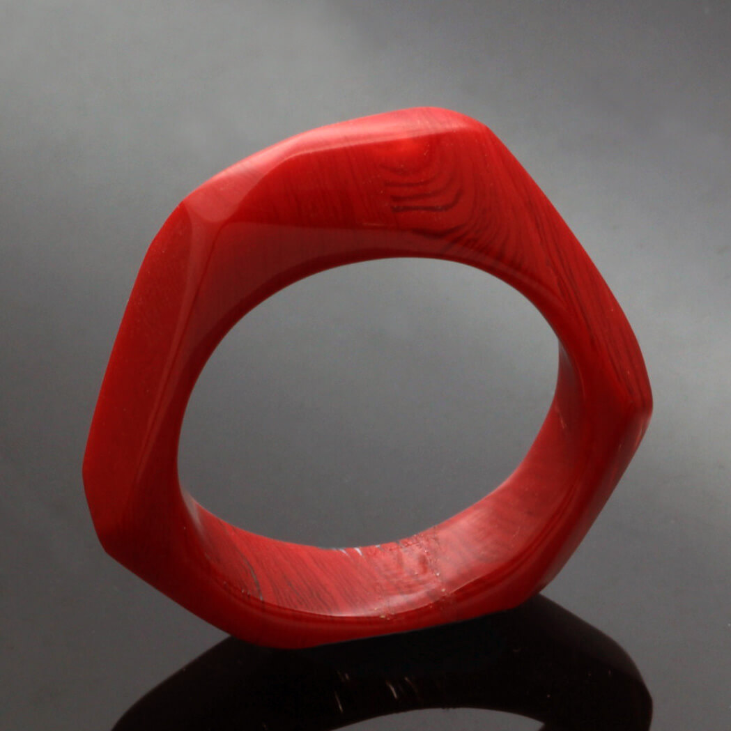 Handcrafted PErspex statement ring colourpop