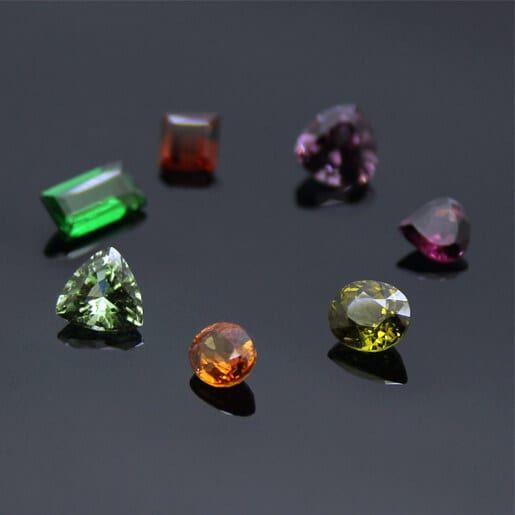 Garnet gemstone rainbow January Birthstone modern Jewellery