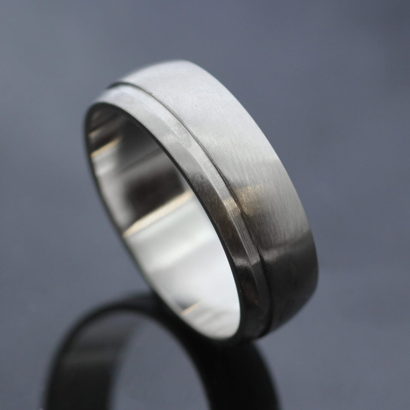 Bespoke Court Palladium mens wedding ring handmade in Brighton