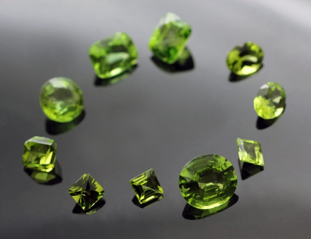 Peridot August Birthstone gemstones jewellery design