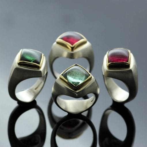 The Abbey Collection: Contemporary cocktail rings by Julian Stephens
