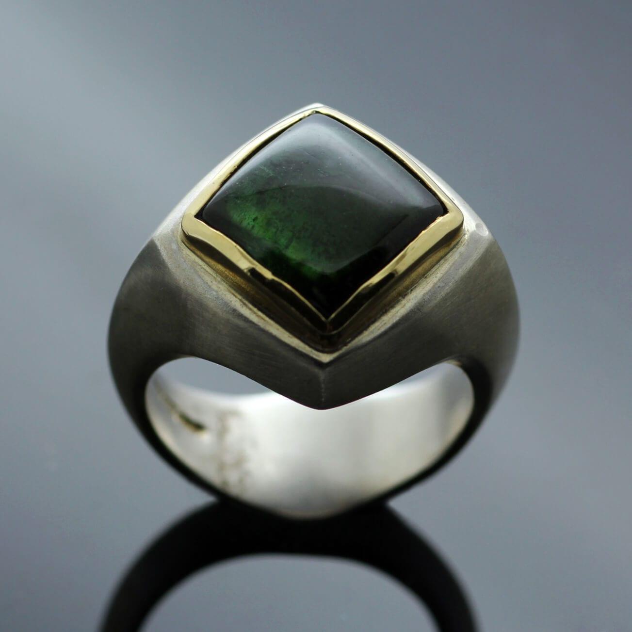 Tourmaline gemstone Abbey ring by Julian Stephens