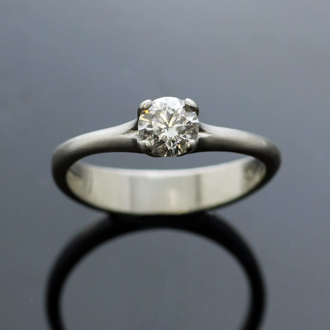 Platinum and 0.5ct Diamond handmade engagement ring