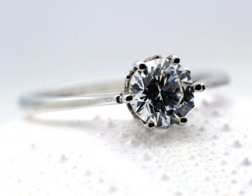 Handmade Diamond and Platinum engagement ring