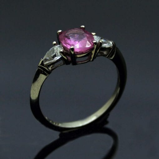 Modern Trilogy engagement ring handmade in Brighton