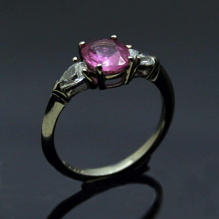 Modern Trilogy engagement ring handmade in Brighton