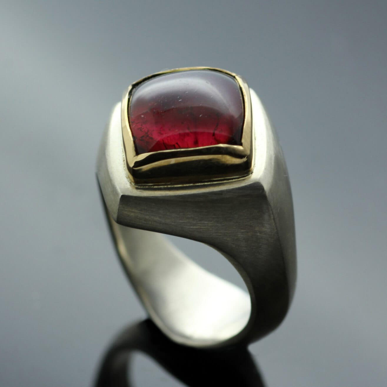 Modern red Tourmaline gemstone Abbey cocktail ring