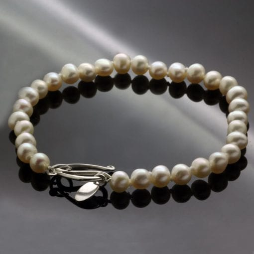Sterling Silver freshwater Pearl handcrafted bracelet