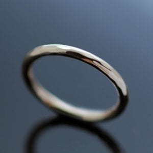 9ct Rose Gold hammered round ring contemporary