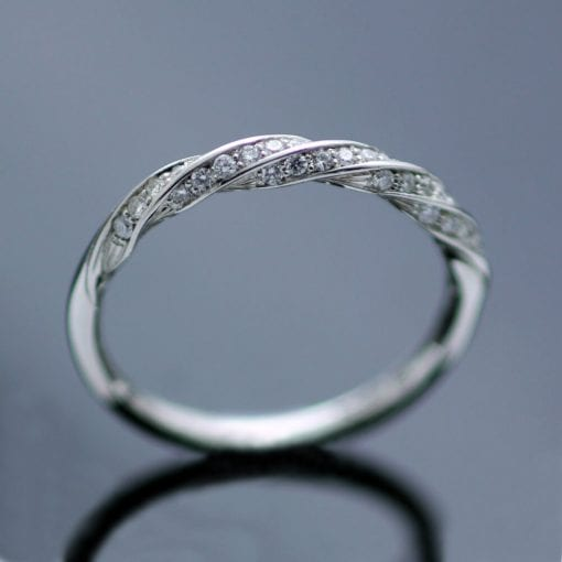 Modern Diamond Platinum Eternity band unique