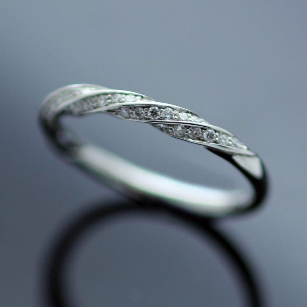 Fine Jewellery Diamond Platinum Eternity band handcrafted