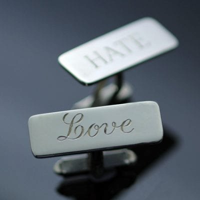 Mens accessories 925 Silver hand engraved cufflinks