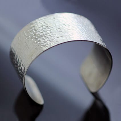 Chunky Silver cuff handmade modern style