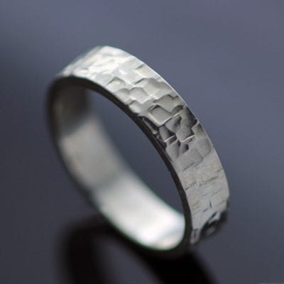 925 Sterling Silver chunky handmade ring textured hand finished