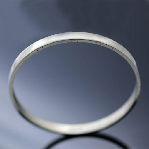 Solid Silver modern stacking bangle