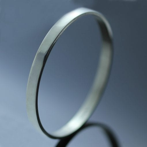 Sterling Silver polished handmade stacking bangle