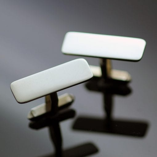 Contemporary mens accessories solid Sterling Silver minimal cufflinks
