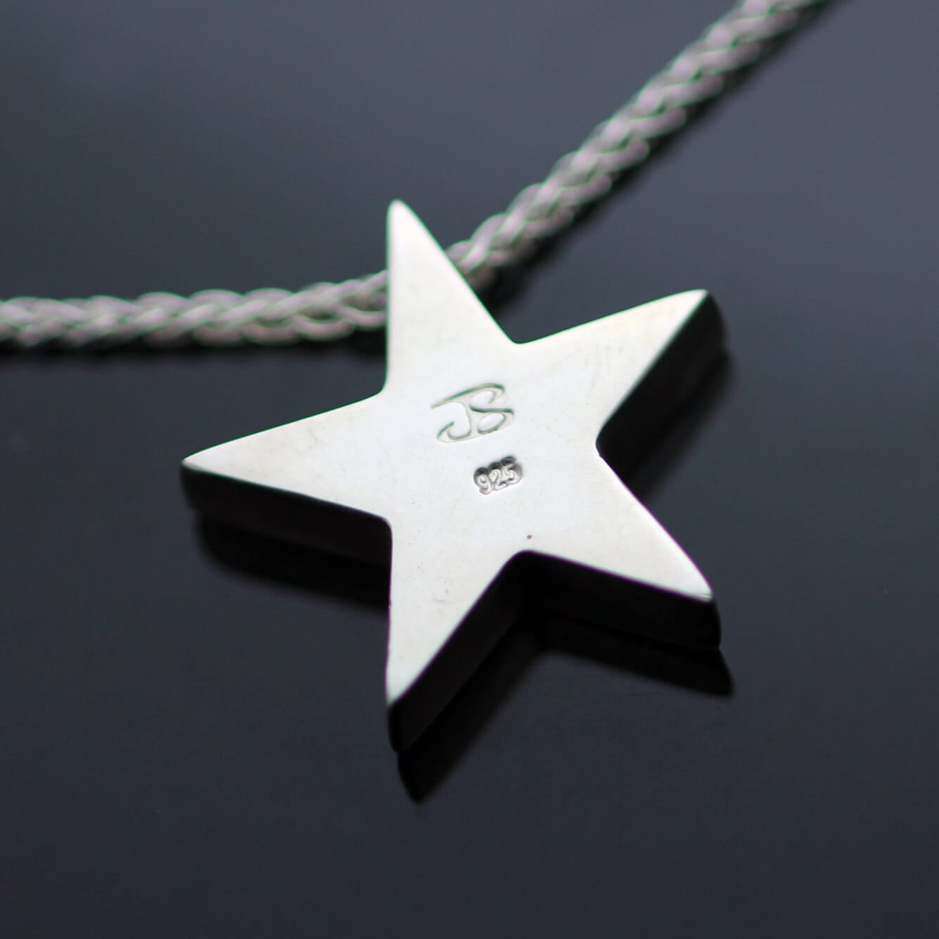 Hallmarked Sterling Silver Star pendant handmade