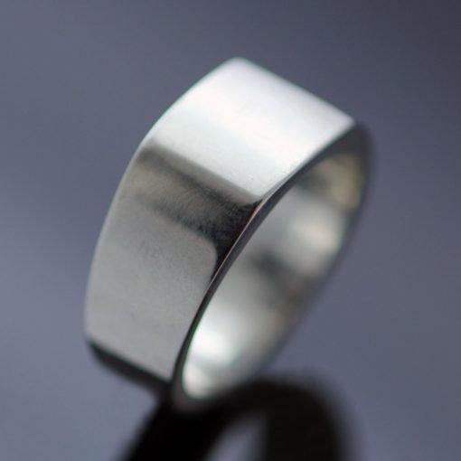 Modern signet ring silver handmade